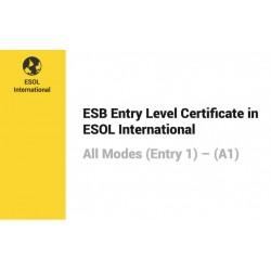 Esami di Certificazione di Lingua Inglese  ESB ESOL Entry 1