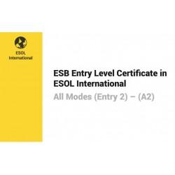 Esami di Certificazione di Lingua Inglese  ESB ESOL Entry 2